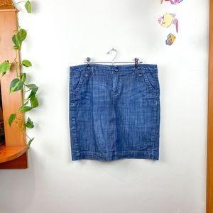 GAP Denim Mini Skirt Pockets zipper Closure 14